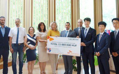 15 millió forintot adományoz az SK Battery iváncsai civil szervezeteknek